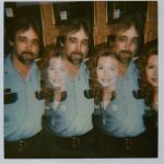 Unaltered Polaroid of Lisa with a friend